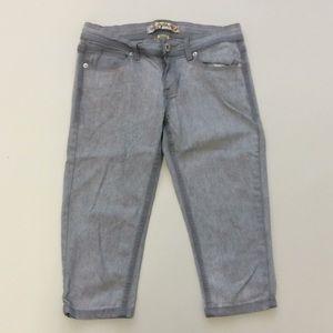 tyte Jeans sz7 girls grey wash crop pants